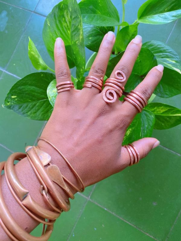 Copper Ring Stacks 2